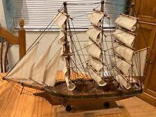 Vintage Wooden Boat Model -Augusta Cirra 1827