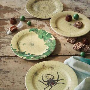 8pc THRESHOLD & JOHN DERIAN Itsy Bitsy Melamine Appetizer Plate Set | Owls 🆕