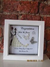 Personalised 'Bride & Groom' Wedding Box Frame Gift