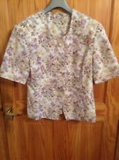 BNNT VERY PRETTY LILAC DITSY FLORAL DESIGN FORMAL/WEDDING JACKET MARKS SIZE UK14