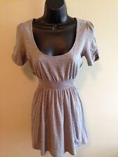 I Love H81 Women's Gray Elastic Waist Lightweight Tunic Top (Size S)