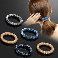 Women Crystal Elastic Hair Rings Hair Ropes Scrunchies Ponytail Hair Accessories