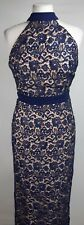 Paper Dolls High Neck Crochet Dress, Navy, Size 10, BNWT
