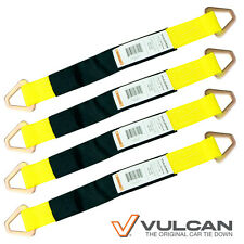 4 Pk Flexible Car Tie Down Axle Straps - The Best for Hauling Vehicles SWL 3300