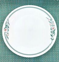 """Corelle Set of 4 Dinner Plates Rosemarie Green Tulip Design 10 1/4"""""""