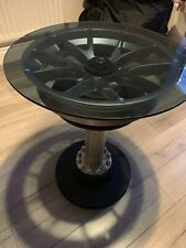 Porsche GT3 Racing Alloy Wheel Bar Man Cave Table Shamus Jennings Race Car Pub