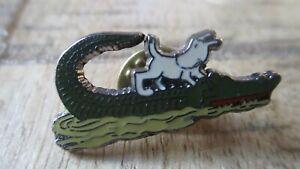 Hergé&Corner&Coinderoux-Ancien pin s-Milou sur le crocodile-Gravé&Numéroté-Neuf