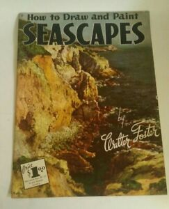 Vintage How to #9 Draw Paint Seascapes Magazine Book Walter Foster Art 1960s