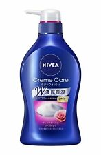 [KAO NIVEA] Creme Care Shower Cream FRENCH ROSE Body Wash 480ml JAPAN NEW