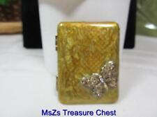 "New ListingMonet Gold ""Vintage Compact"" Collectible Keepsake Mirror w/Butterfly * Nib *"