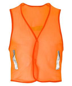 Hi Vis Hi Visibility Mesh Waistcoat - Hi Viz Orange - HVW04