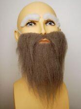 Fancy Dress Grey Beard & White Eyebrow Set. Old Man Wizard Ghost Dwarf Gnome