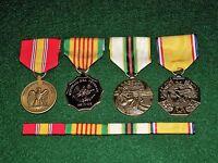 4 Medals Set w/ribbons NDSM Vietnam Era Cold War Honorable Service Discharge