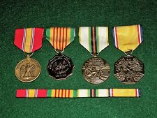 4 Medals Set w/ribbons NDSM Vietnam Era Cold War Honorable Service Discharge