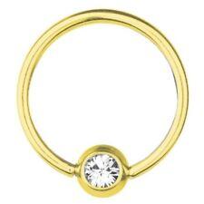 BCR Gold Plated Titanium Piercing 1,6 mm, SWAROVSKI ELEMENTS White   8 - 16 mm
