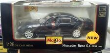 MAISTO Mercedes Benz S Class (1998) 4 Door Sedan 1:26 Scale Green NIB New Luxury