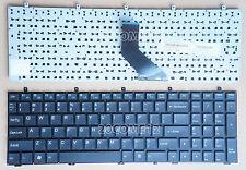 NEW For Clevo W350ET W350ETQ W350SKQ W370SK Keyboard US NO BACKLIT & Frame