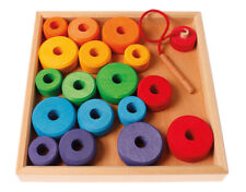 Grimm's Game and Wood Design 10315 First Threading in a Wooden Frame 19 Pieces