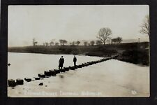 Ightenhill near Burnley - Stepping Stones - real photographic postcard