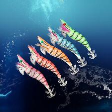 5pcs/Lot Luminous Hard Squid Bait Jig 13cm Squid Jigs Saltwater Fishing Lures EB