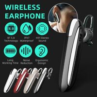 Wireless Bluetooth 5.0 Earpiece Earbud Stereo Headset For iPhone Samsung Android