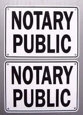 """""""NOTARY PUBLIC"""" SERVICE SIGN, 2 SIGN SET, METAL"""