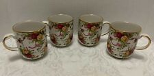 4 Old Country Roses RUBY CELEBRATION  COFFEE MUGS Retired Royal Albert 2002