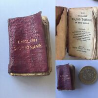The Smallest English Dictionary in the World MINIATURE c1890 Pears David Bryce