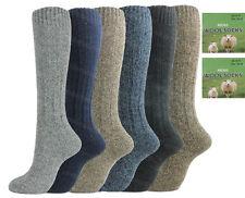 6 Pairs Mens Long Length Thermal Socks Thick Wool Blend Walking Hiking Ski Boot