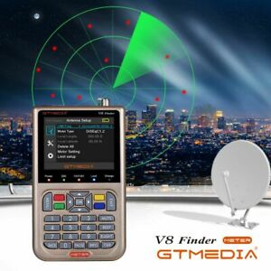 V8 Satellite Signal Finder Meter 3.5'' LCD DVB-S2/S2X FTA HD Digital Sat-finder