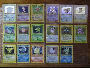 Near Complete Holographic Rare Pokemon Cards Base Set 2 130