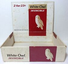 VTG White Owl INVINCIBLE Cigar Box 2 for 23c General Cigar Co 50 Cigar Box