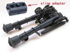"Tactical 6"" - 9"" Harris Style Bipod Adjustable Legs W/Bipod Sling Mount Adaptor"