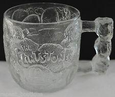 McDonalds FLINTSTONES ROCKY ROAD GLASS MUG 1993 bedrock cup collectible vtg