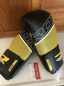 RDX Leather Boxing Gloves Fight Punching MMA Muay Thai Grappling Kick BGR F6