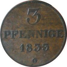 SACHSEN AKS  78   3 Pfennig 1833 G in SS   6540101