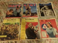 6 World War II Color Newspaper Inserts Phila Inquirer Army Navy Marines 1942-44