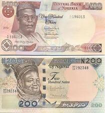 A SAISIR    LOT DE  2  X BILLETS     NIGERIA    NEUF  !!!!