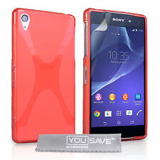 Yousave Accessories Sony Xperia Z2 Soft Silicone Gel X-Line Case Cover & Film UK