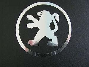 Peugeot wheel centre decal stickers X 4 Chrome 205 206 207 306 307 406 107 GTI