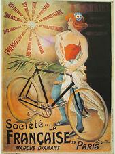 AFFICHE POSTER CARTONNE PARIS FRANCE SPORT VELO CYCLISME COURSE VINTAGE BYCICLE