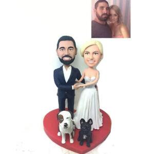 Handmade Custom Polymer Clay Figurine Dolls Birthday Topper Gift Mini Statue