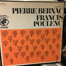 A RECITAL by PIERRE BERNAC (Baritone) FRANCIS POULENC piano   2 LPs  great set