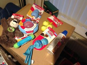 Kong  PUPPY Dog Toys Large Bundle. BLUE NEW 7 Items