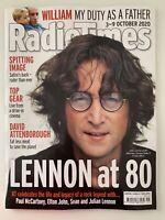 **JOHN LENNON (THE BEATLES) UK RADIO TIMES TV MAGAZINE OCTOBER 2020**