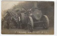 More details for traction engine accident, coast hill nr dorking: surrey postcard (c61041)
