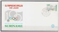 Surinam / Suriname 1994 FDC 175 100 Year olympic games olympiade olympique