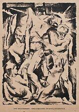 Otto Baumberger - Kreuzabnahme - Originallithographie - 1918