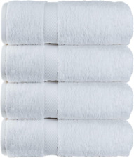 New Luxury White Bath Towels Large 700 GSM Circlet Egyptian Cotton Absorbent Hot