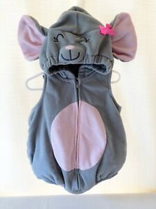 Carter's Gray Mouse 24M Girl Baby Infant Halloween Costume Carters